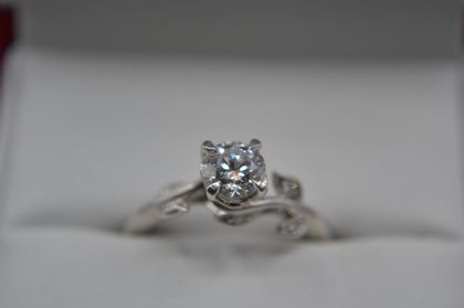 14ct White Gold James Allen Diamond Solitaire Ring